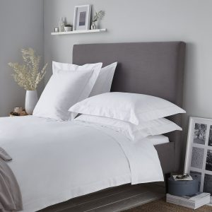 Luxury white duvet cover, 400 thread count duvet cover, duvet cover white