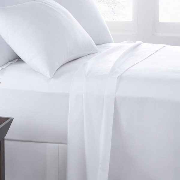 White Flat bed sheet by a london brand