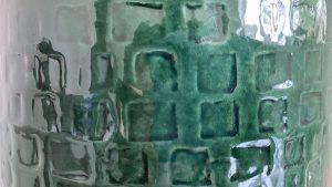 15 cm green ceramic plant pot, 15 cm flower pot