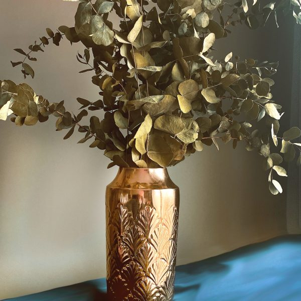 gold Art deco shell flower pot vase