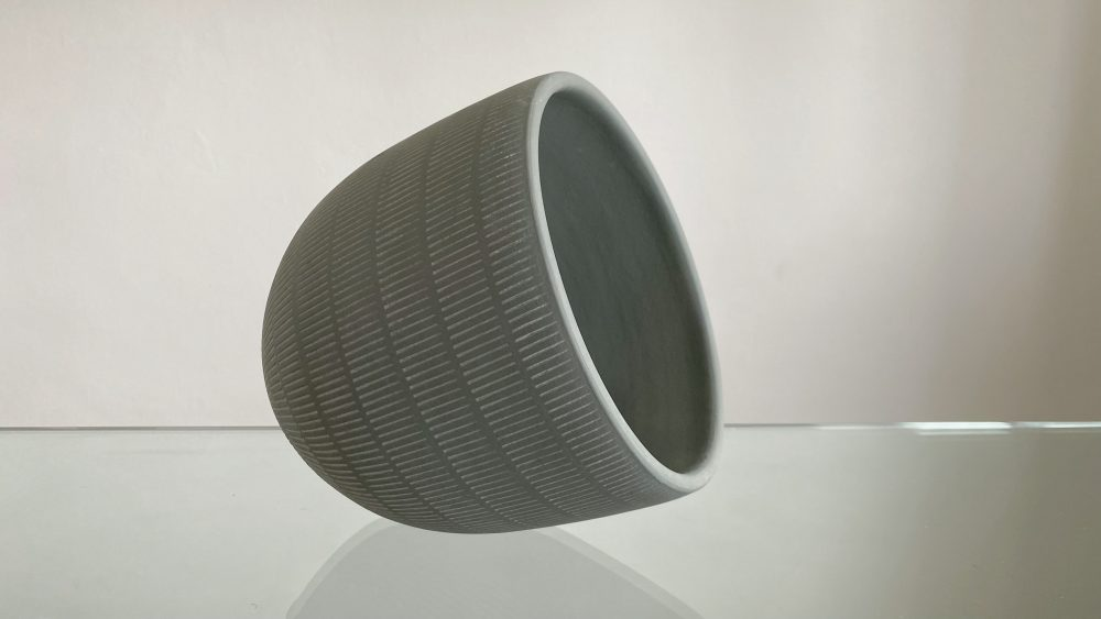 18cm grey pot, 18cm flower pot,