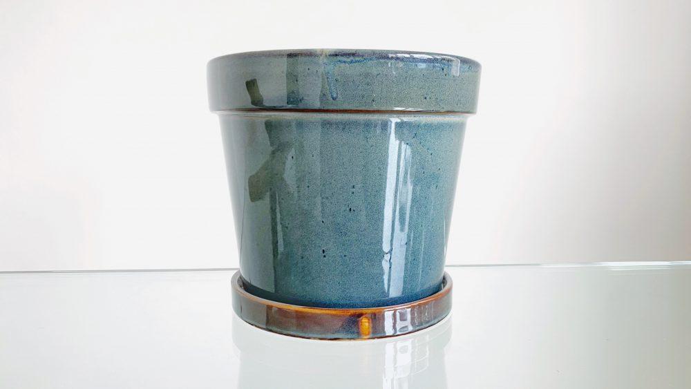 Green Vintage Ceramic Pot 19 cm