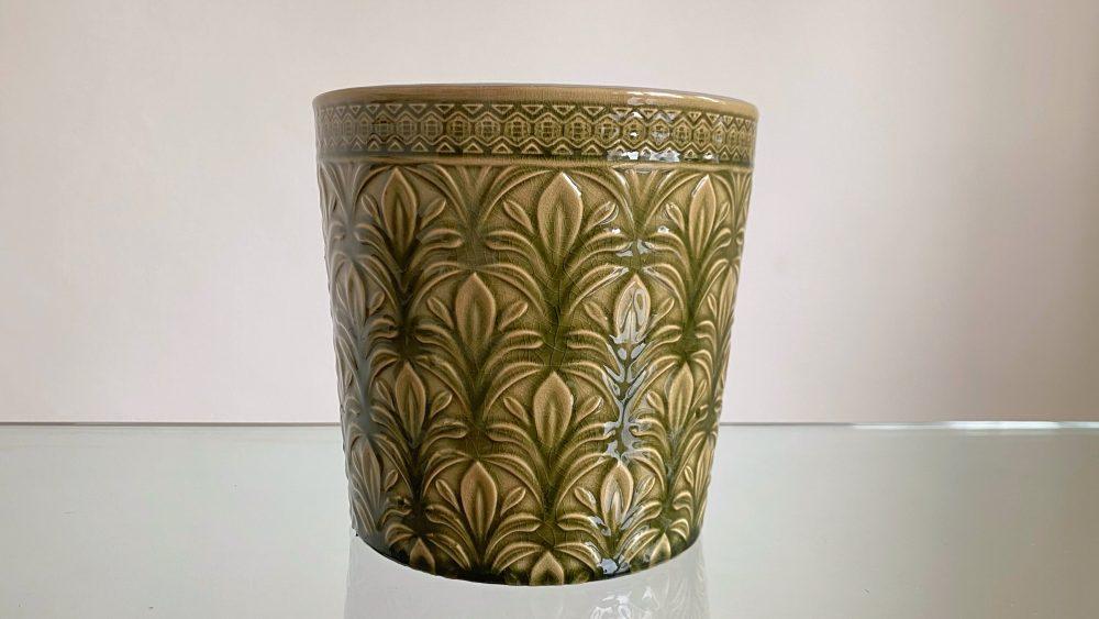 Green flower pot, green plant pot